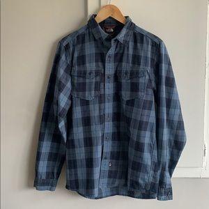 Men's blue North Face Flannel